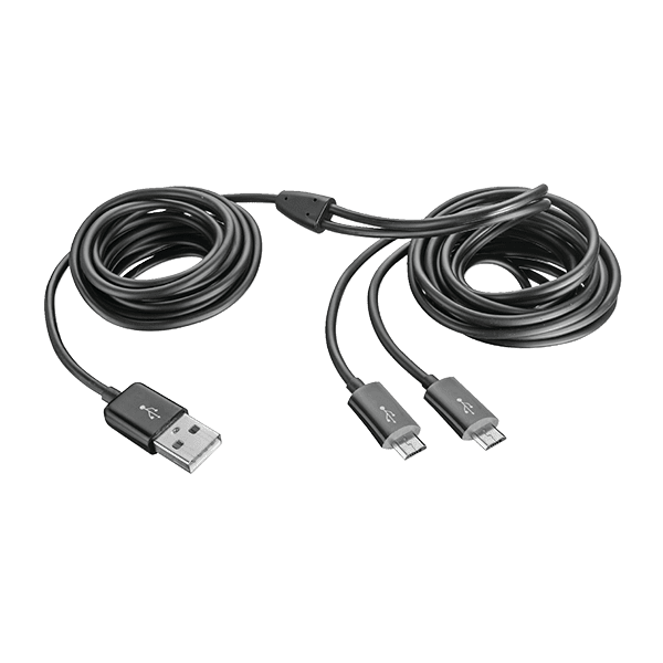 Trust GXT 221 Duo Charge Cable suitable for Xbox One